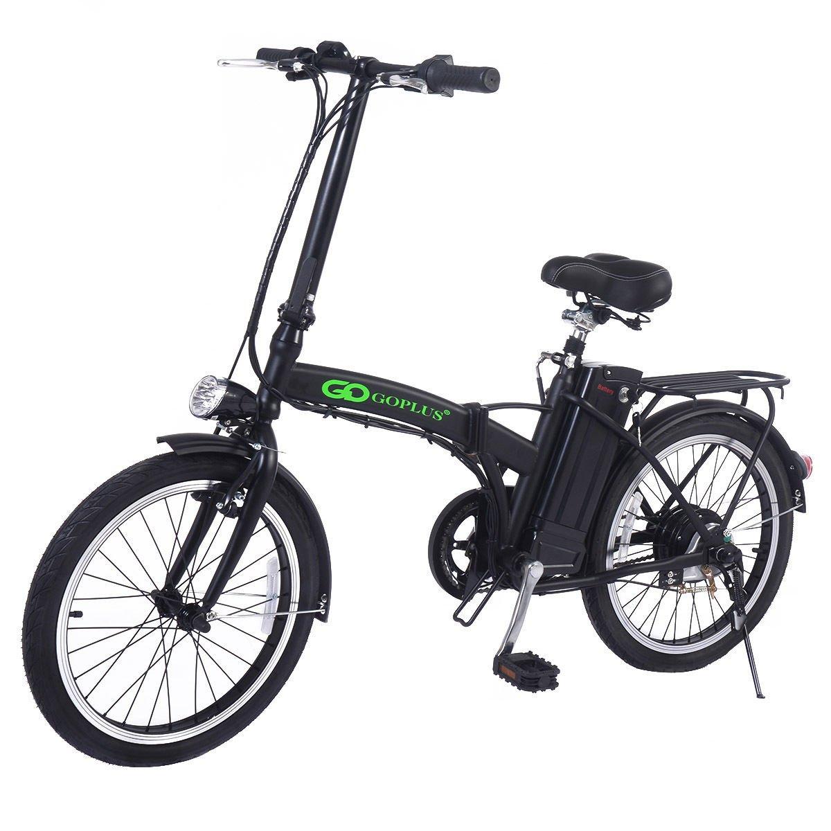 Goplus 20 Inch 250W Folding Electric Bike Sport Mountain Bicycle