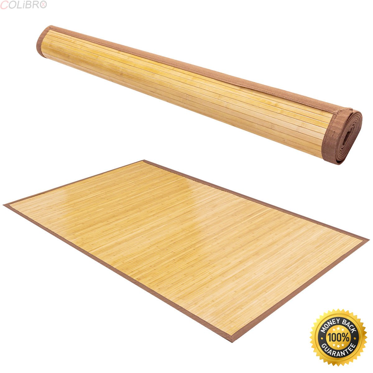 COLIBROX--5' X 8' Bamboo Area Rug Floor Carpet Natural Bamboo Wood Indoor Outdoor New,area rugs home depot,Bamboo Area Rug ,amazon area rugs 5x8,home depot rug sale tent