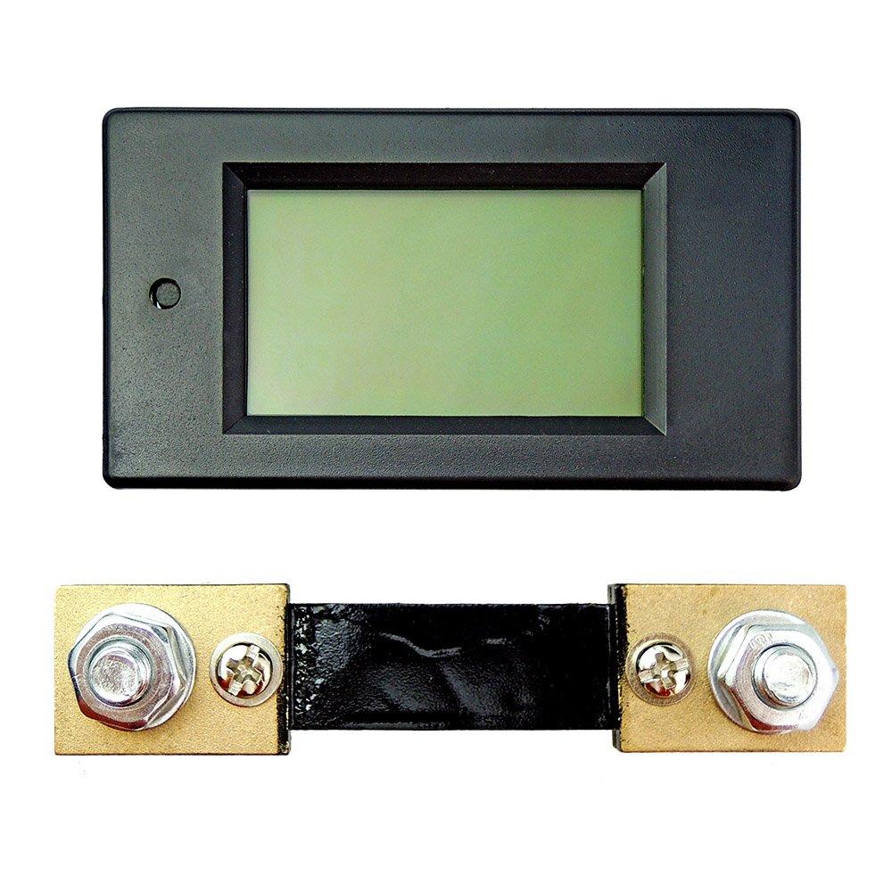 DC 6.5-100V 50A LCD Digital Power Stromzähler Meter Amperemeter mit 50A Shunt