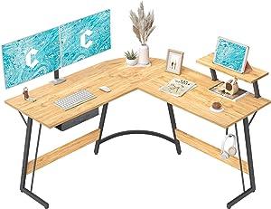 CubiCubi L-Shaped Desk Computer Corner Desk, 50.8
