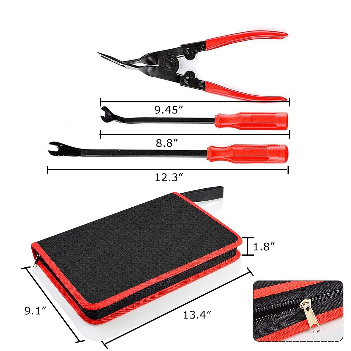 Rabbica Car Trim Removal Tool 30pcs Auto Door Panel Removal Tool for Dash Center Console Installation and Remover with Terminal Removal Tools (red) by Rabbica (Image #3)