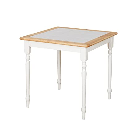 Target Marketing Systems 20330WHT Tile Top Dining Table