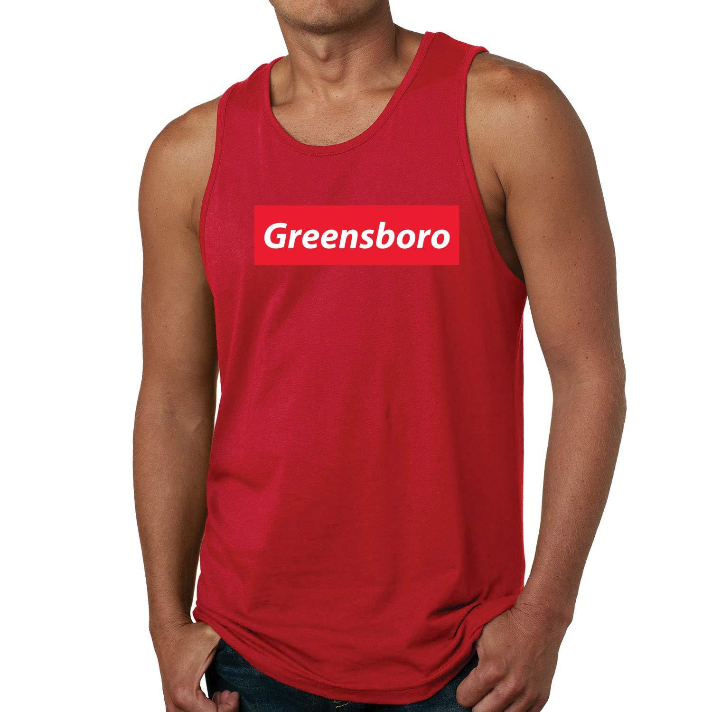 Red Box Logo Greensboro City Pride Mens Graphic Tank Top