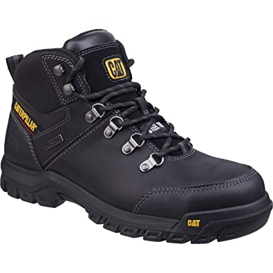 36d03853f Caterpillar Mens Leather S3 Boots Safety Work Ankle Black Waterproof Steel  Toe Shoe (UK6