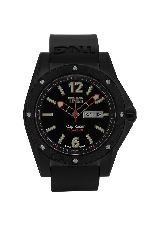 TNG Herren-Armbanduhr Analog Plastik Schwarz TG667.30571.14PV
