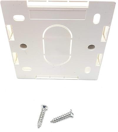 MainCore Bo/îtier arri/ère de montage en surface pour fa/çade /électrique et Ethernet CAT5e CAT6 CAT6A CAT7 CAT8 blanc