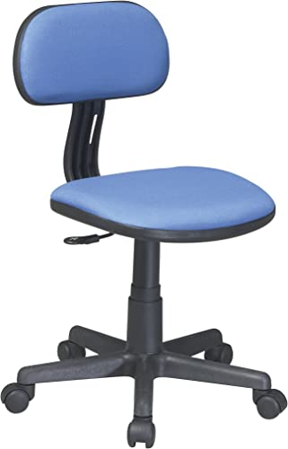 Office Star One Touch Pneumatic Seat Height Adjustment Task Chair, Blue