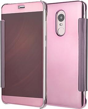 Funda® Espejo Enchapado Flip Funda para Xiaomi Redmi Note 4X/Xiaomi Redmi Note 4(Oro Rosa): Amazon.es: Electrónica