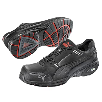Puma Safety Shoes Velocity Low S3 HRO SRA, Puma 642570-200 Unisex-Erwachsene Espadrille Halbschuhe, Schwarz (schwarz 200), EU 43