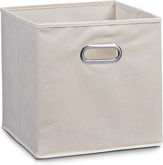 Zeller 14131 - Caja de almacenaje de tela, plegable, 28 x 28 x 28 ...
