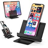ORIbox Phone Stand, Smartphone Holder Desk Adjustable Foldable, Compatible with All iPhone , All Android Smartphones Charging