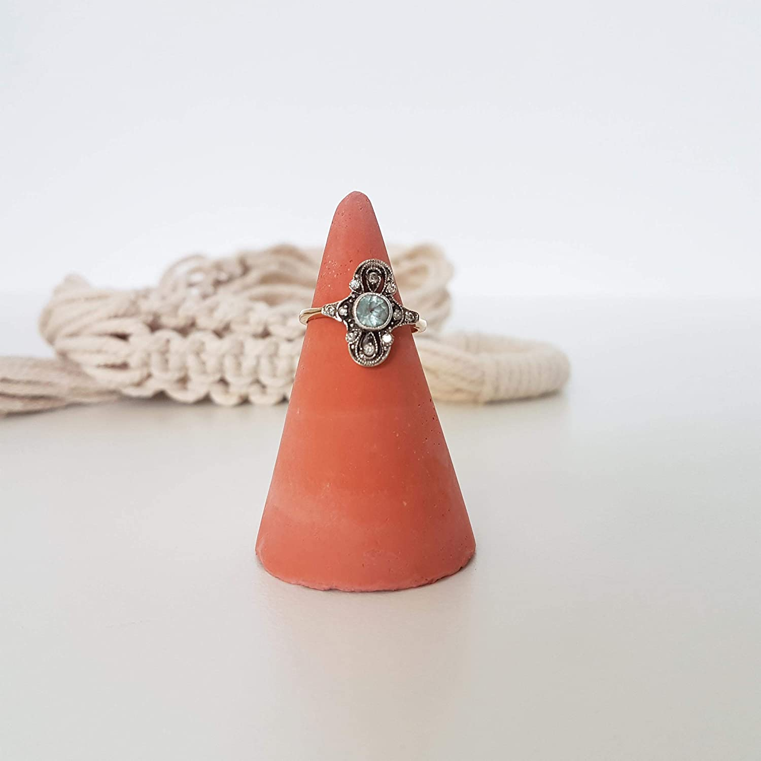 Orange Concrete Ring Cone