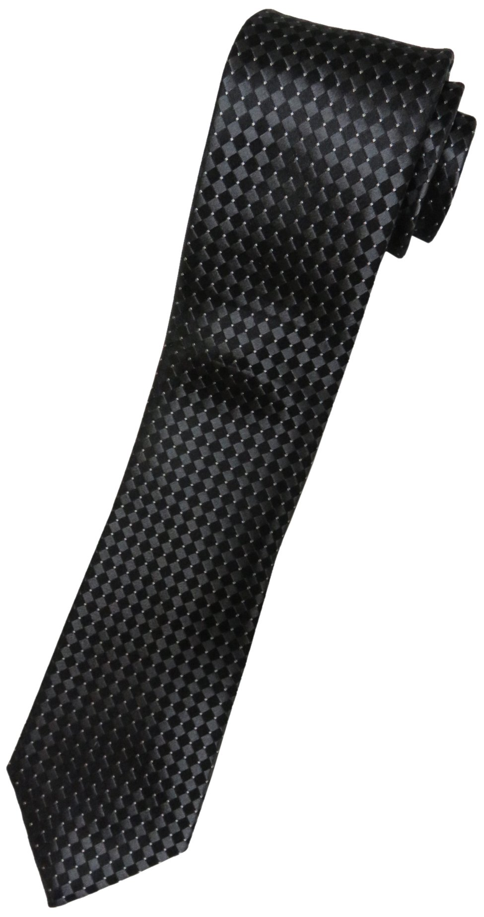 Donald Trump Neck Tie Black Charcoal and Silver Diamond with Gold Crest