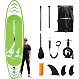 Famistar Inflatable Stand Up Paddle Board 12'x32''x6'' Lightweight SUP for Drift Yoga Fish with Accessories ISUP Carry…