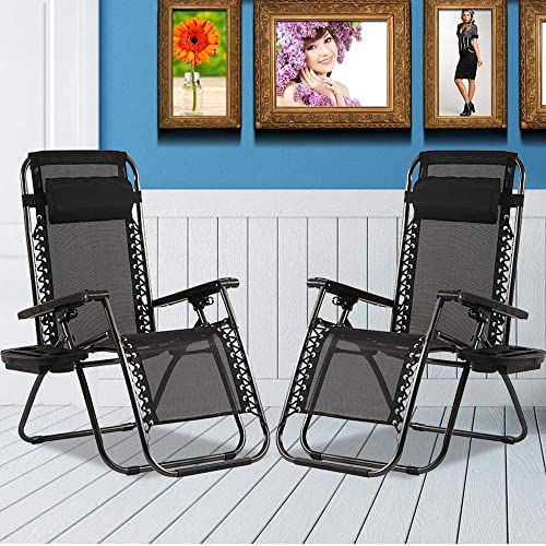 Adjustable Zero Gravity Chairs Patio Reclining Folding Camping Chair Outdoor Anti Gravity Chairs Yard Chairs