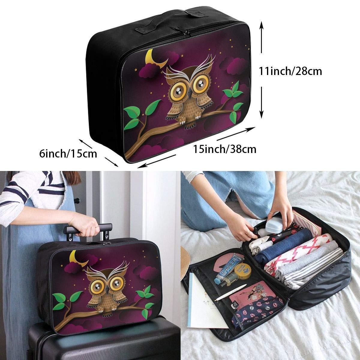 Lightweight Large Capacity Portable Duffel Bag for Men /& Women Owl Purple Night Travel Duffel Bag Backpack JTRVW Luggage Bags for Travel
