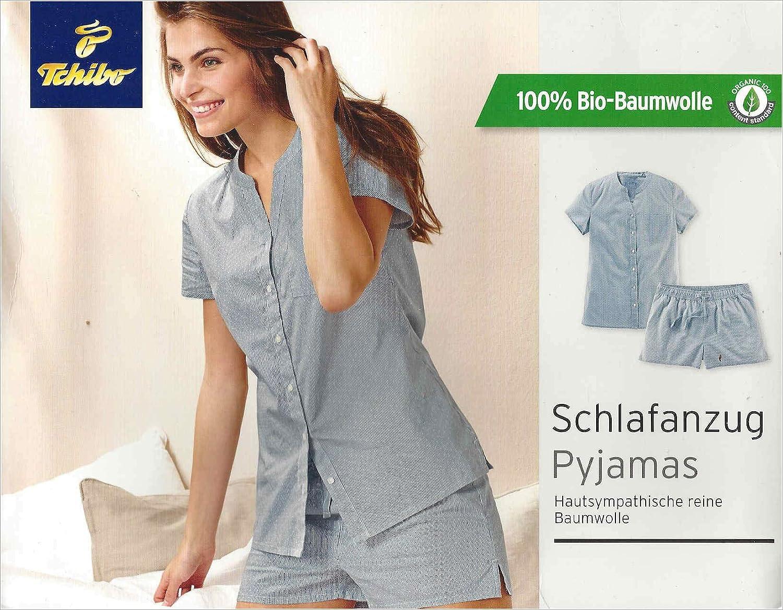 bb90e2dcd1 Tchibo TCM Damen Kurz Schlafanzug Shorty Pyjama Biobaumwolle (36/38 S):  Amazon.de: Sport & Freizeit