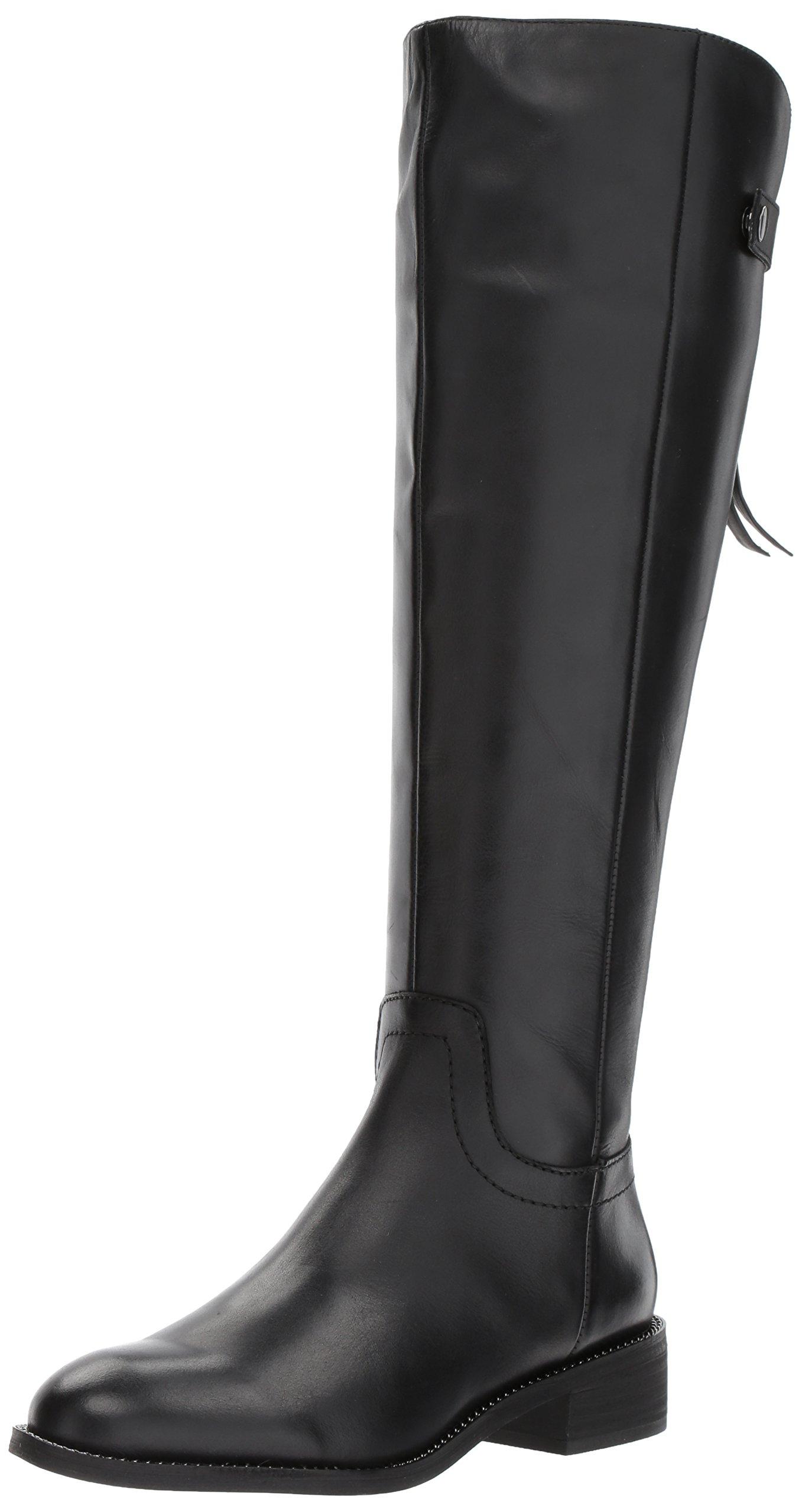 Franco Sarto Women's Brindley Equestrian Boot, Black, 8.5 M US