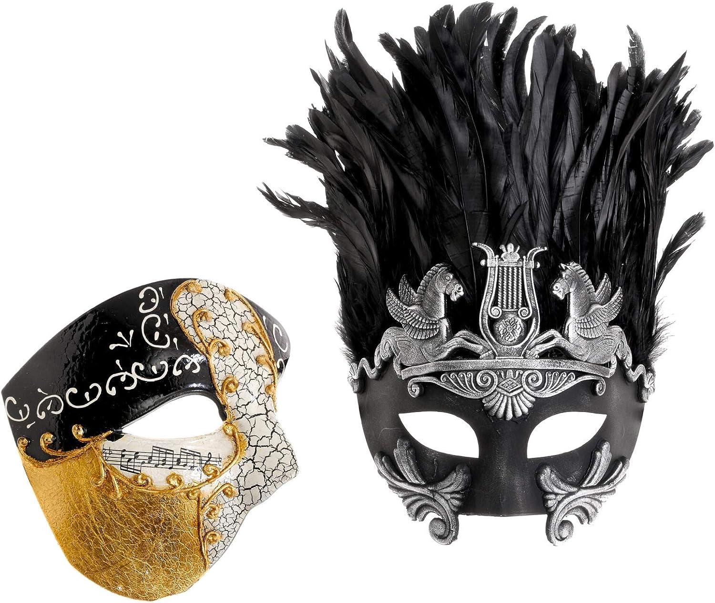 ILOVEMASKS Phantom Full Face Silver Glitter Masquerade Ball Costume Party Mask
