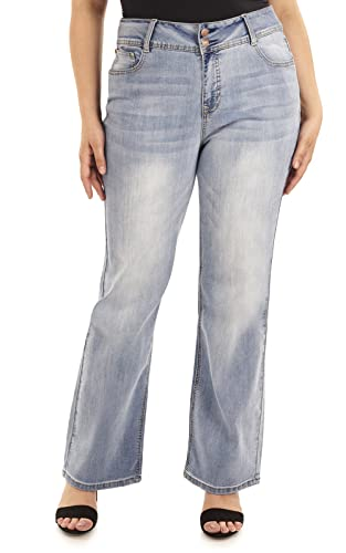 Angels Plus Size Basic Curvy Bootcut Jeans