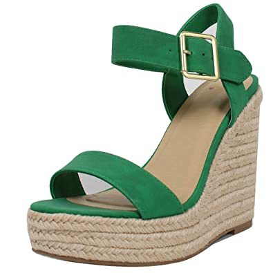 bb290903ac6 Delicious Women s Open Toe Espadrille Platform Wedge