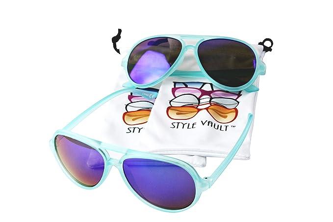 Year Sunglasses Aviator Cute Vp Vault OldRainbow Style Age 2~8 Kd234 Kids yf6gYb7
