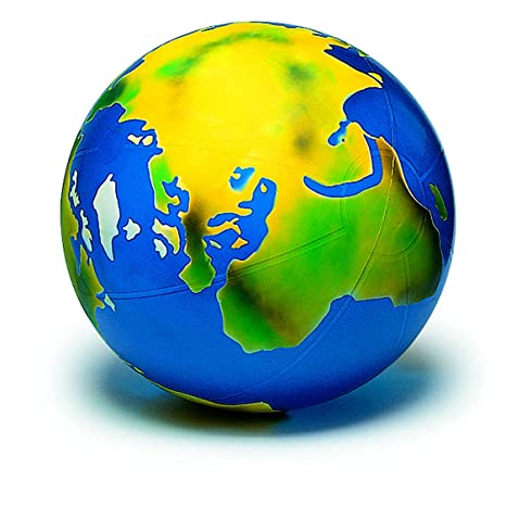 Weltkugel TOGU Erdball mit Schablonierung Kinder aufblasbarer Globus