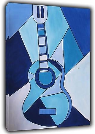 Pablo Picasso - Pintura para guitarra, diseño de cuadros, color azul, azul,