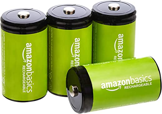 AmazonBasics D Cell Rechargeable Batteries (10000mAh Ni-MH) - Pack of...