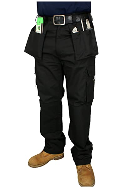 Pantaloni di lavoro a Tasche per uomo triplici cuciture  Amazon.it   Abbigliamento 78ba9393749