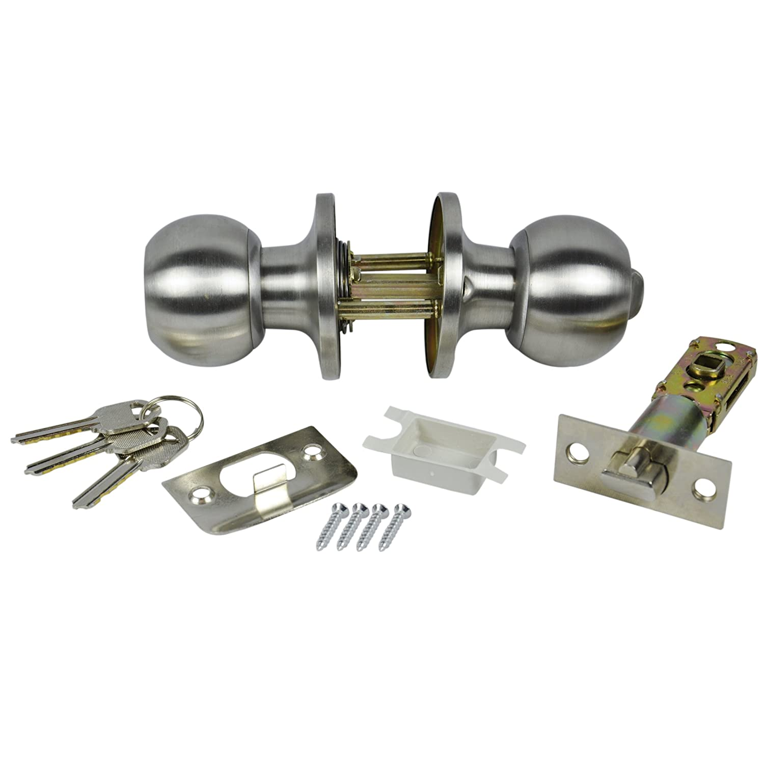 Danco Mobile Home Entrance Door Lock Brushed Nickel 61801