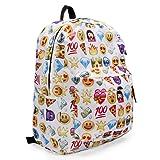 KING DO WAY Women's Travel Backpack Shoulder School Book Bag Rucksack White 32 x 13 x 42cm