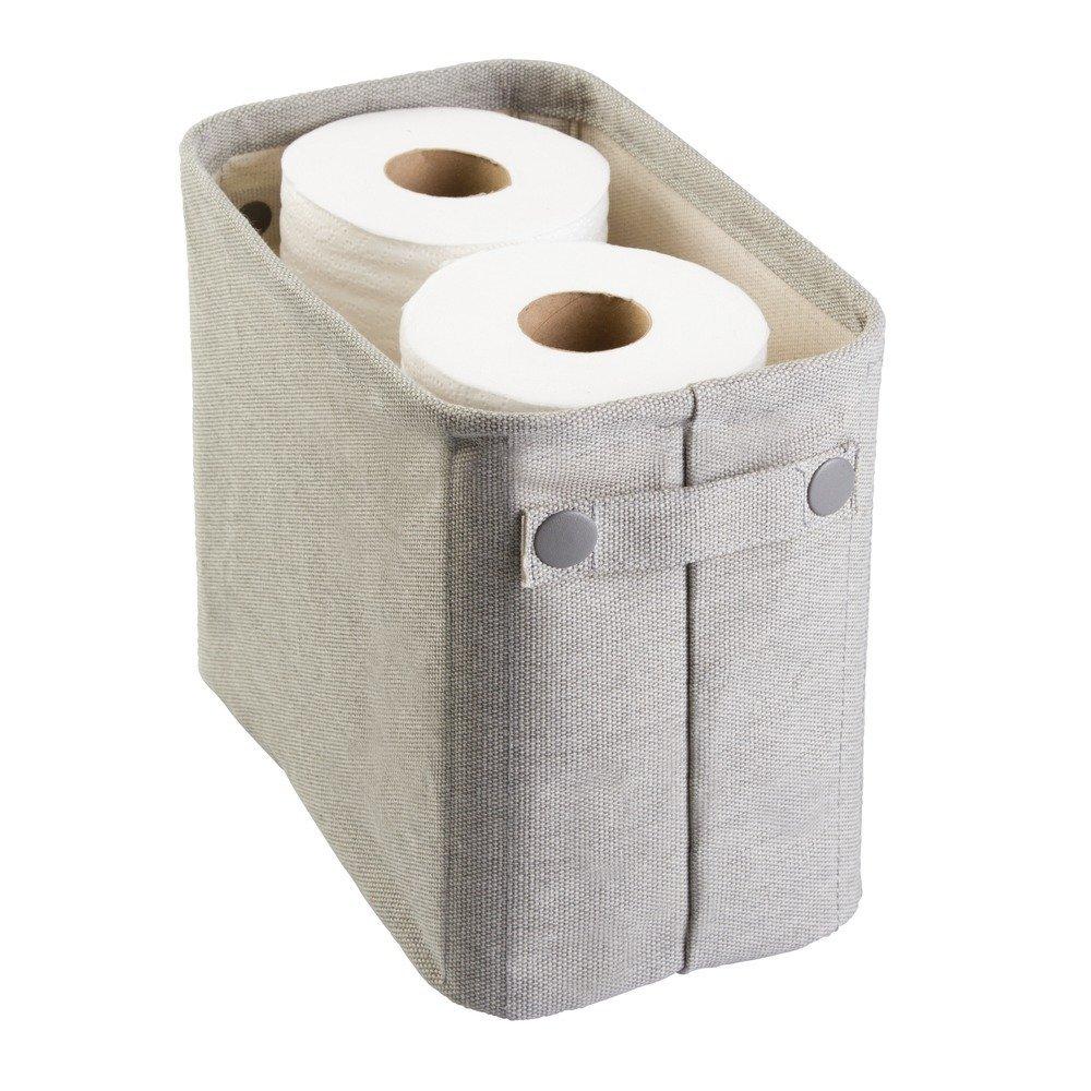 Attirant Amazon.com: InterDesign Wren Cotton Fabric Bathroom Storage Bin For  Magazines, Toilet Paper, Bath Towels   Large, Light Gray: Home U0026 Kitchen