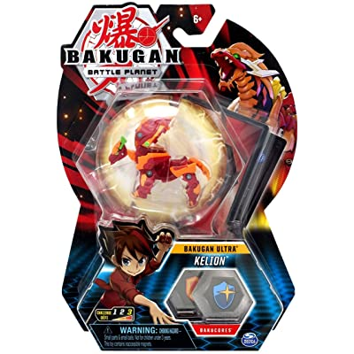 Bakugan Ultra, Pyrus Kelion, 3-inch Tall Collectible Transforming Creature, Wave 7, for Ages 6 and Up,: Toys & Games