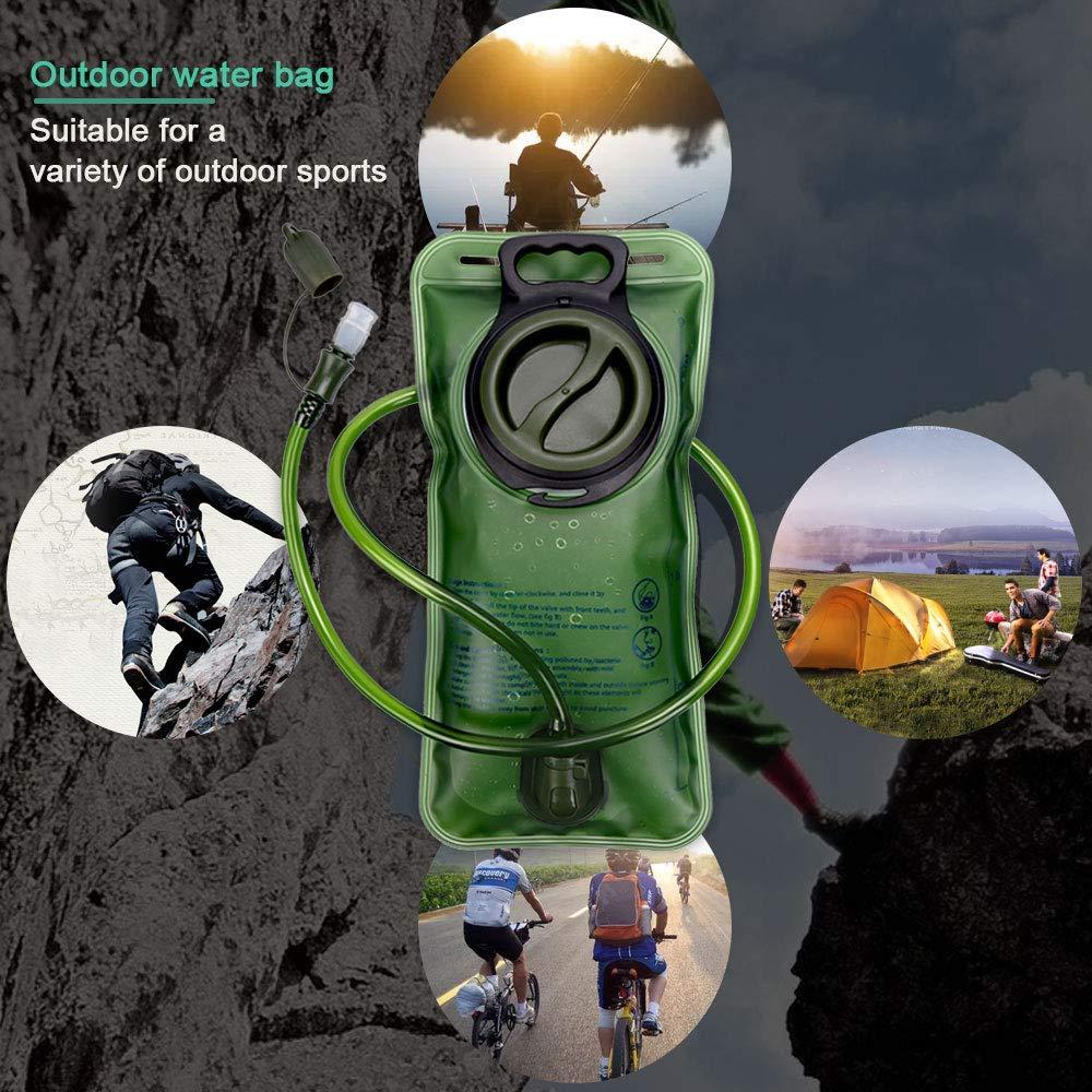 Randonn/ée Portable 2L /Étanche et Durable Poche /à Eau pour Cyclisme Nasharia Poche Hydratation Running etc.