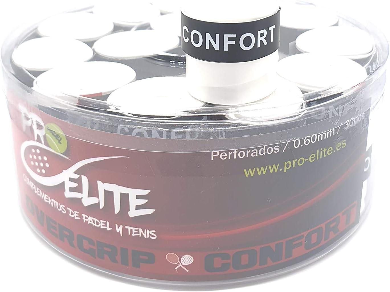 overgrips Pro Elite Confort Perforados. Bote de 30 unds.