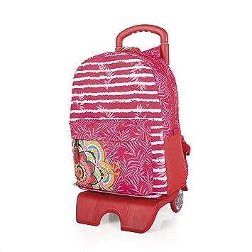 Lois - Mochila Escolar con Ruedas Infantil para Niña. Carro Trolley Extensible. Asa de