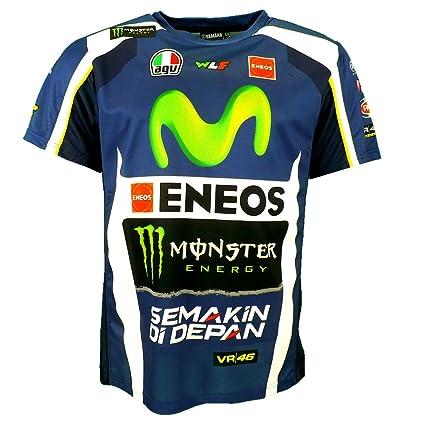 fedff521cf4d Valentino Rossi VR46 M1 Yamaha Factory Racing Team Moto GP Replica T-shirt  Official 2016