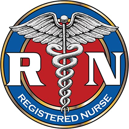 "7/"" tall RN Nurse Window Decal ~ Choose Decal Color"