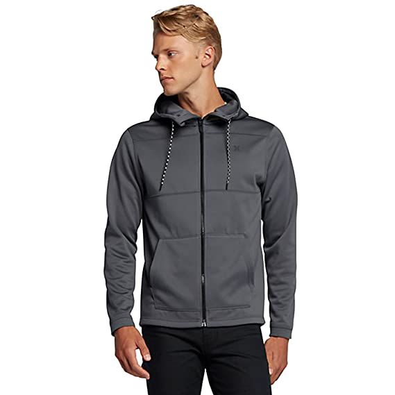 Amazon.com: Hurley MFT0007540 Mens Therma Protect Zip Fleece Hoodie: Clothing