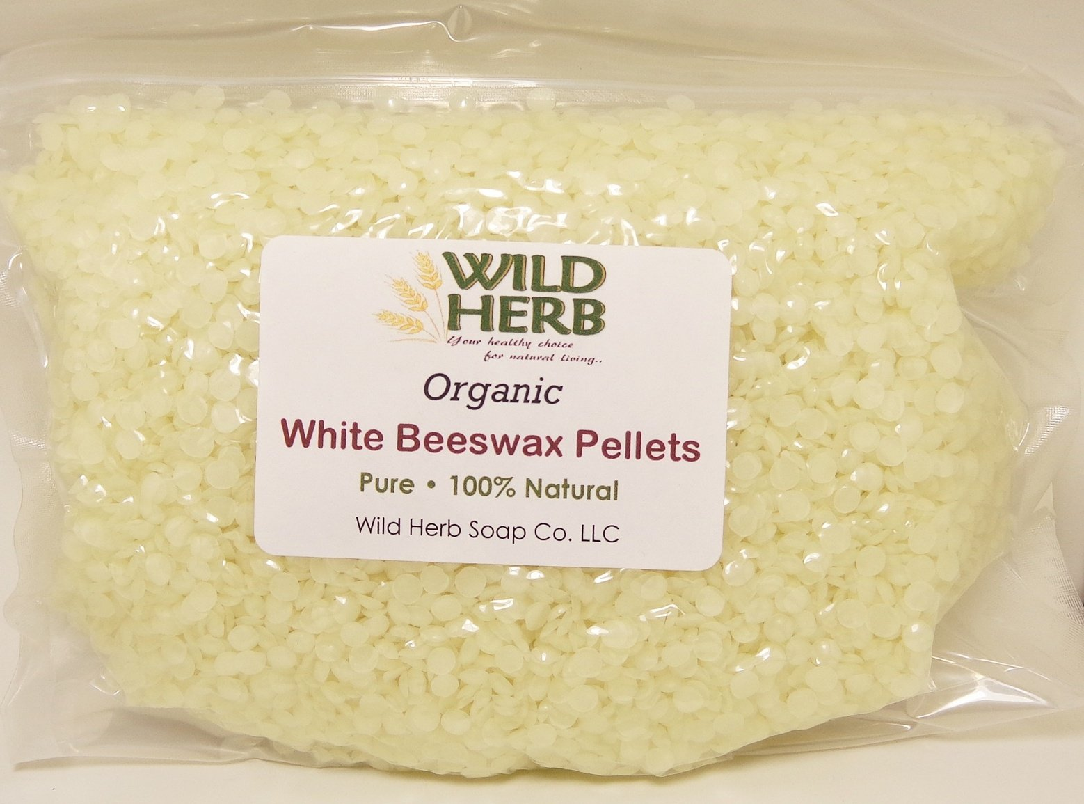 White Beeswax Pellets Organic by Wild Herb Soap Co (Image #1)