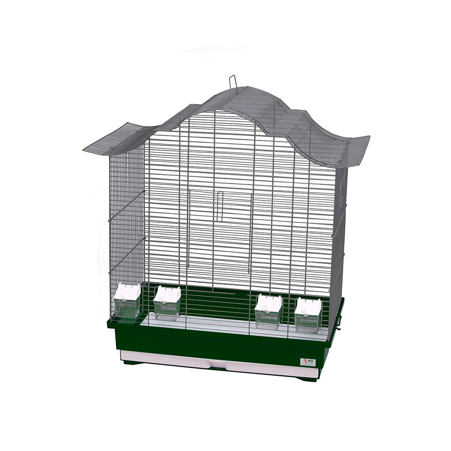 Decorwelt Asia 60 Bird Cages XXL Green Exterior Dimensions 70 x 42 x 72.5 cm Holiday Travel Cage Accessory Budgie Canary Cage Food Bowl Plastic Bird Model