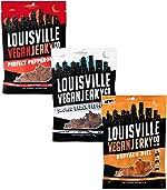 Louisville Vegan Jerky - Variety Pack, Vegetarian & Vegan-Friendly Jerky, 18-21