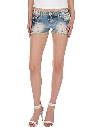 Short Effiloché Mini Jeans Fraternel Femme Motif Papillon Nm8n0vwO