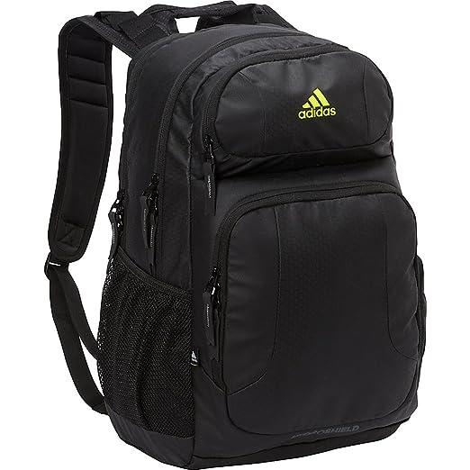 2d1e937a8d34a9 Amazon.com  adidas Unisex Strength Plus Backpack Black Solar Yellow ...
