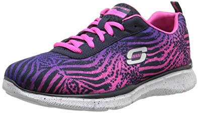 Skechers Equalizer Surf Safari Pink Multi Womens Trainers 3wfiC