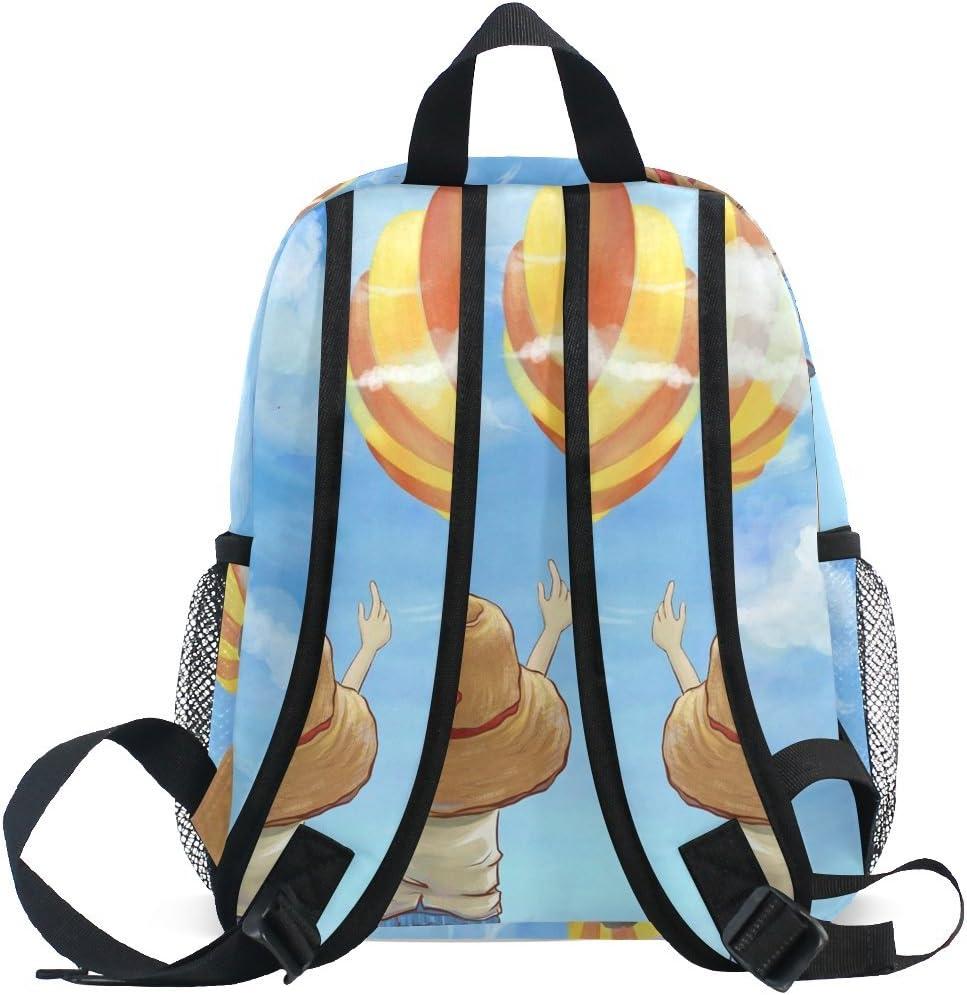 MUOOUM Fantastic Animal White Peacock Kids Backpack Pre-School Toddler Bag Travel Daypack