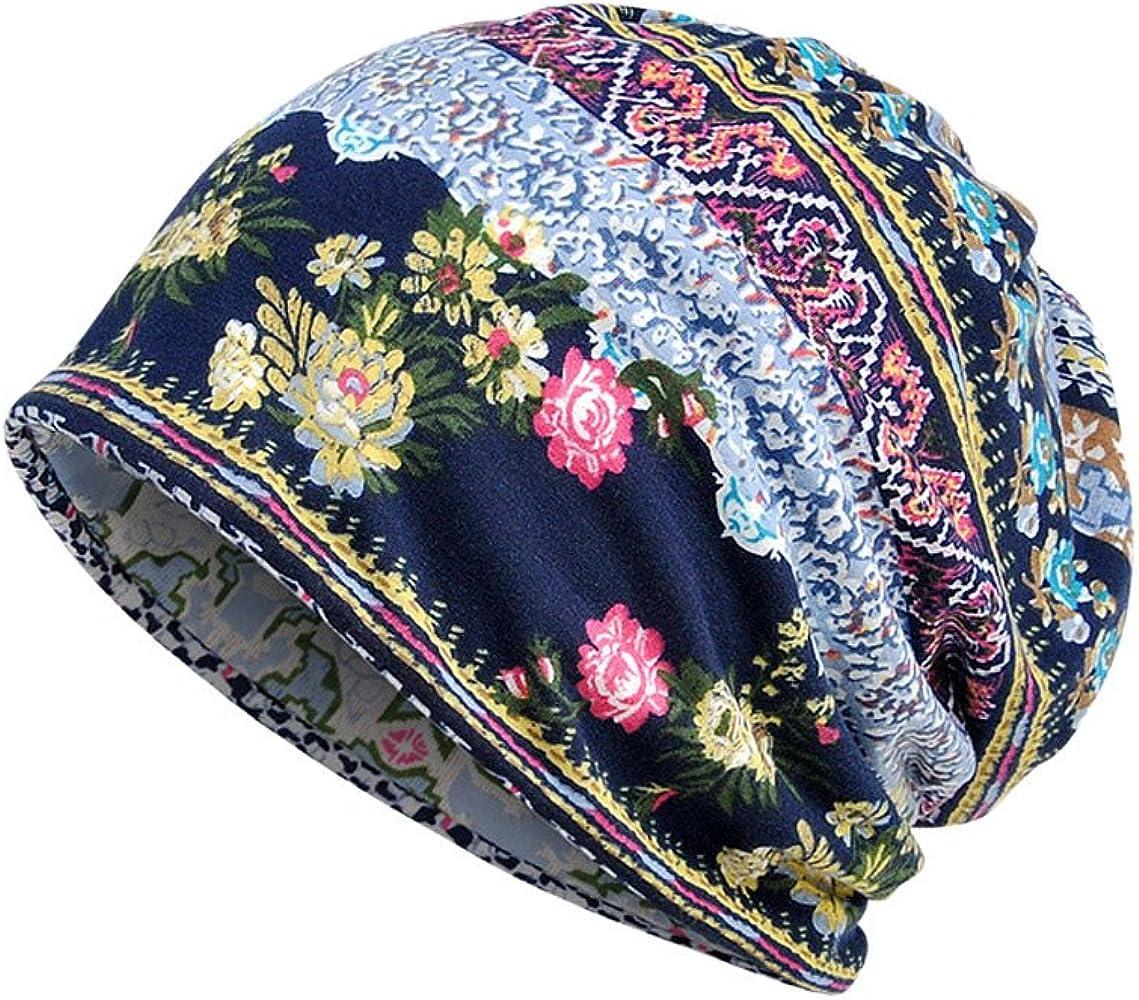 LOPILY Simple Gorras AlgodóN Impreso Jersey Sombrero Bufanda ...