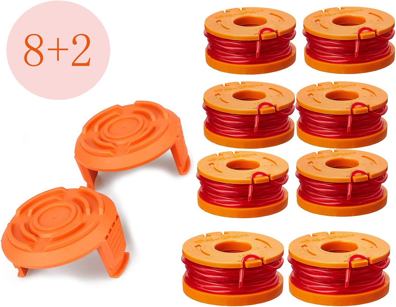 LEIMO Trimmer Spool Line for Worx,Edger Spool Compatible with Worx Trimmer spools...