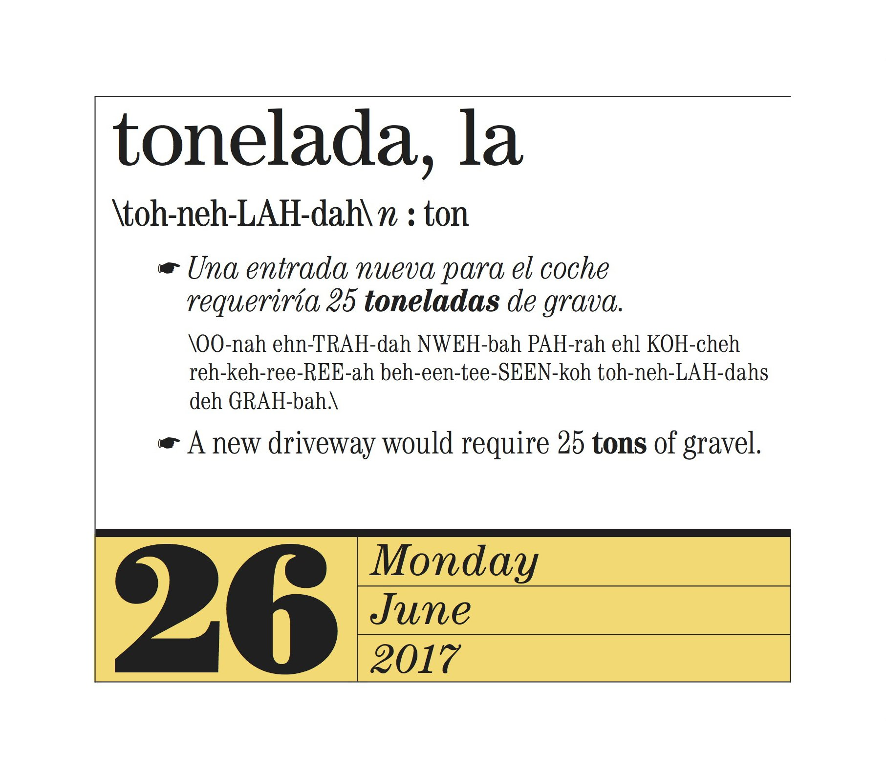 365 Spanish Words-A-Year Page-A-Day Calendar 2017: Amazon.co.uk ...